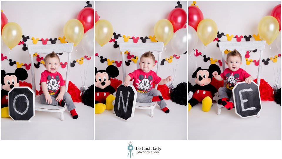 Mickey Mouse Cake Smash Decorations