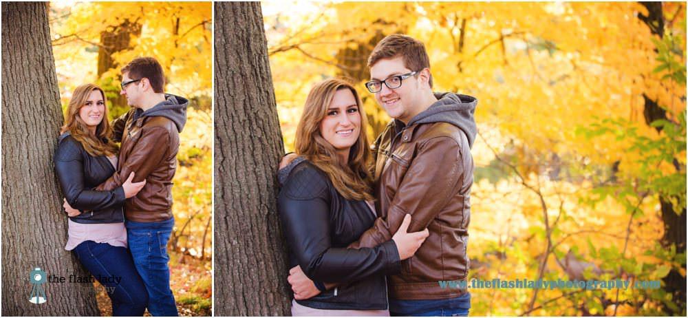 Brooke & Matt's engagement photos at The Drake Hill Flower Bridge, Simsbury, CT