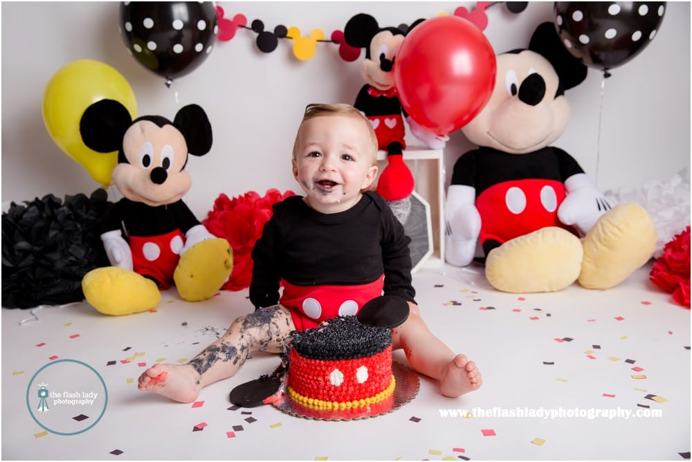 Mickey Mouse First Birthday Smash Cake Outfit