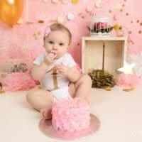 Regina | Girl Cake Smash | North Windham, CT Cake Smash Photographer