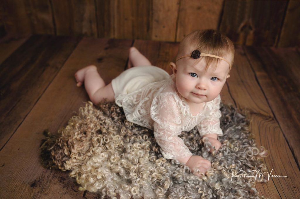 Stella's 6 month milestone photo session by Newington, CT baby photographer The Flash Lady Photography