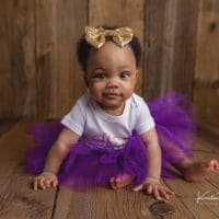 Kamerynn | Purple 6 Month Session | Wethersfield, CT Baby Photographer