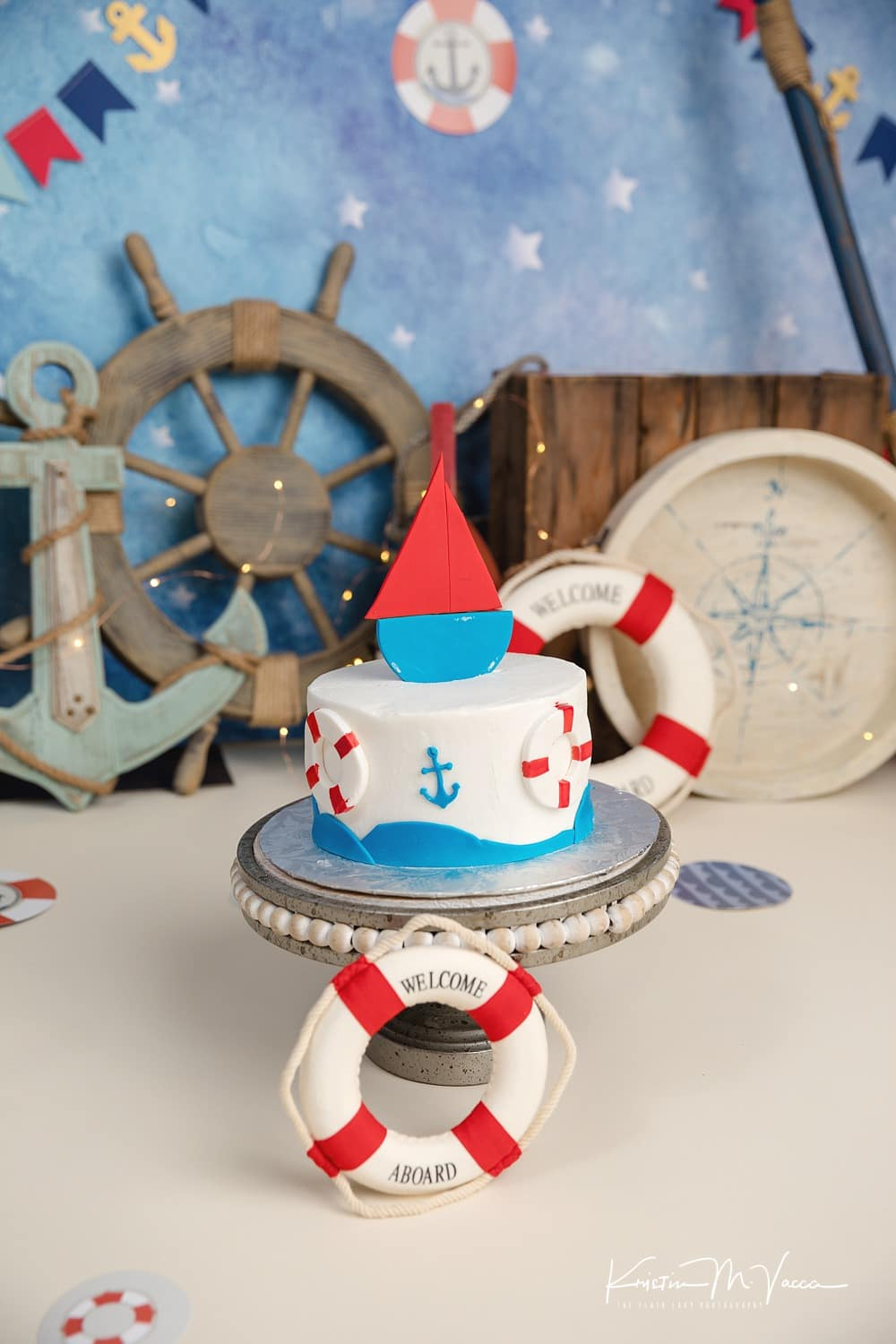 Charlie Nautical Cake Smash Photography South Windsor Connecticut By The Flash Lady Photography 0002 Flash Lady Photography