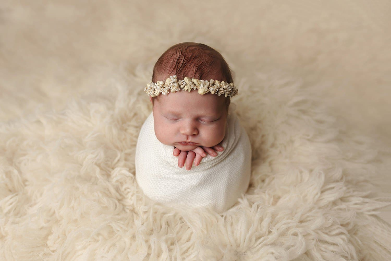 Artistic studio newborn photography by Newington, CT photographer The Flash Lady Photography
