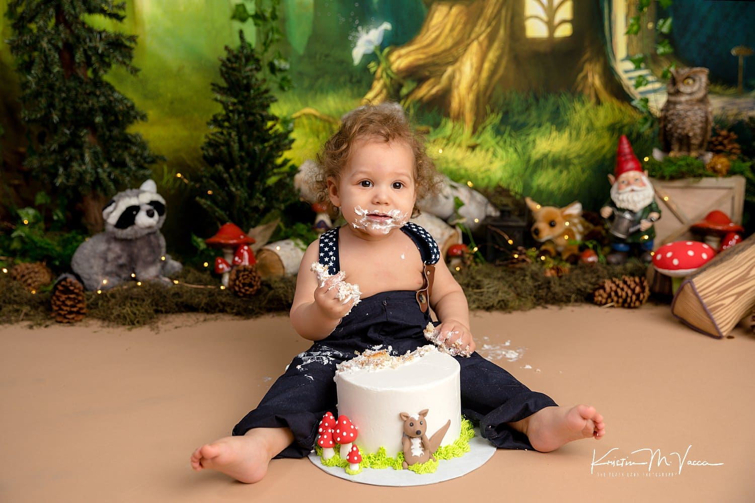 Photos from Milan's enchanted forest cake smash by Avon, CT photographer The Flash Lady Photography
