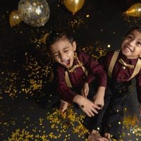 Twin Gold Confetti Photoshoot | Rocky Hill, CT Custom Birthday Photographer