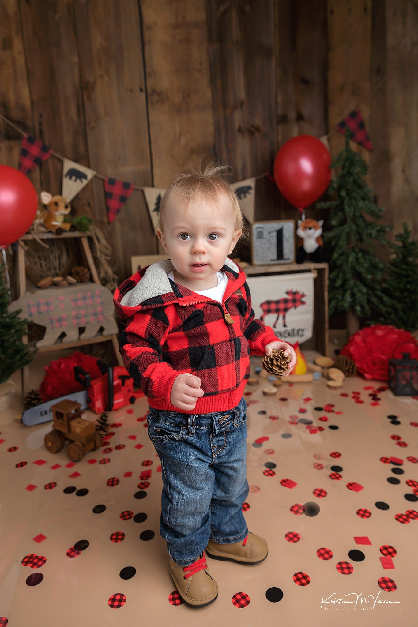 Photos of Mark's lumberjack cake smash by Newington, CT photographer The Flash Lady Photography