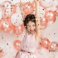 Girl Portraits | Confetti & Balloon Photoshoot | Newington, CT Custom Birthday Photographer