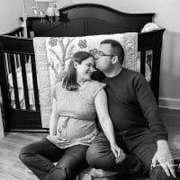 Megan & Konrad | In Home Maternity Photos | Newington, CT Maternity Photographer