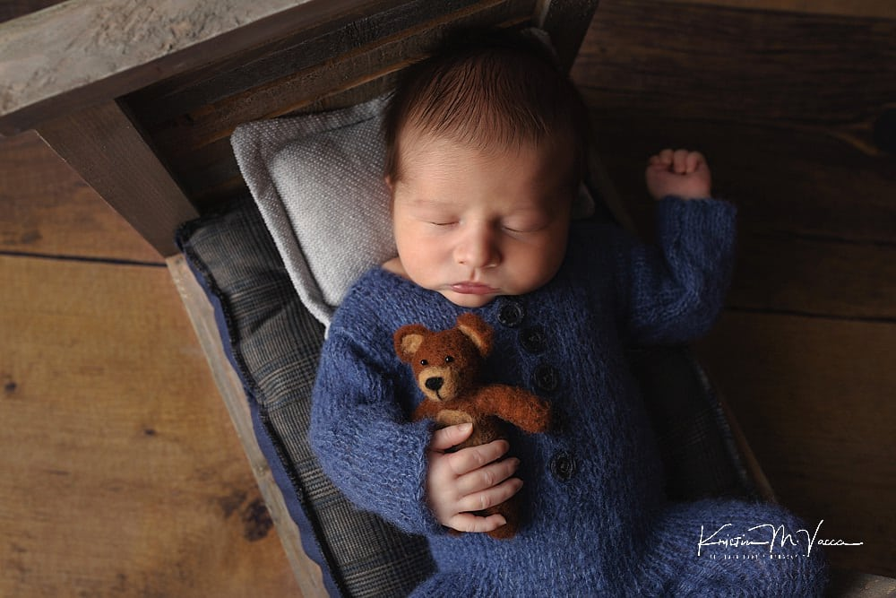 Newborn photos of rainbow baby Mark by The Flash Lady Photography