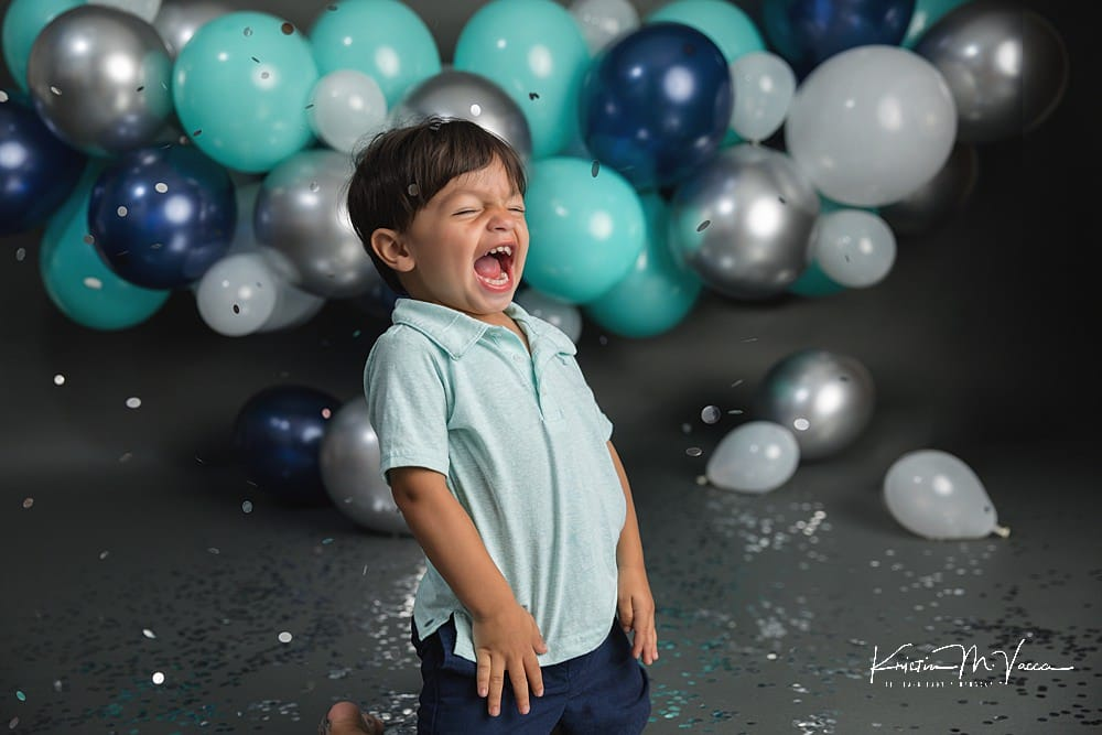 Birthday confetti photoshoot of Brayden by The Flash Lady Photography