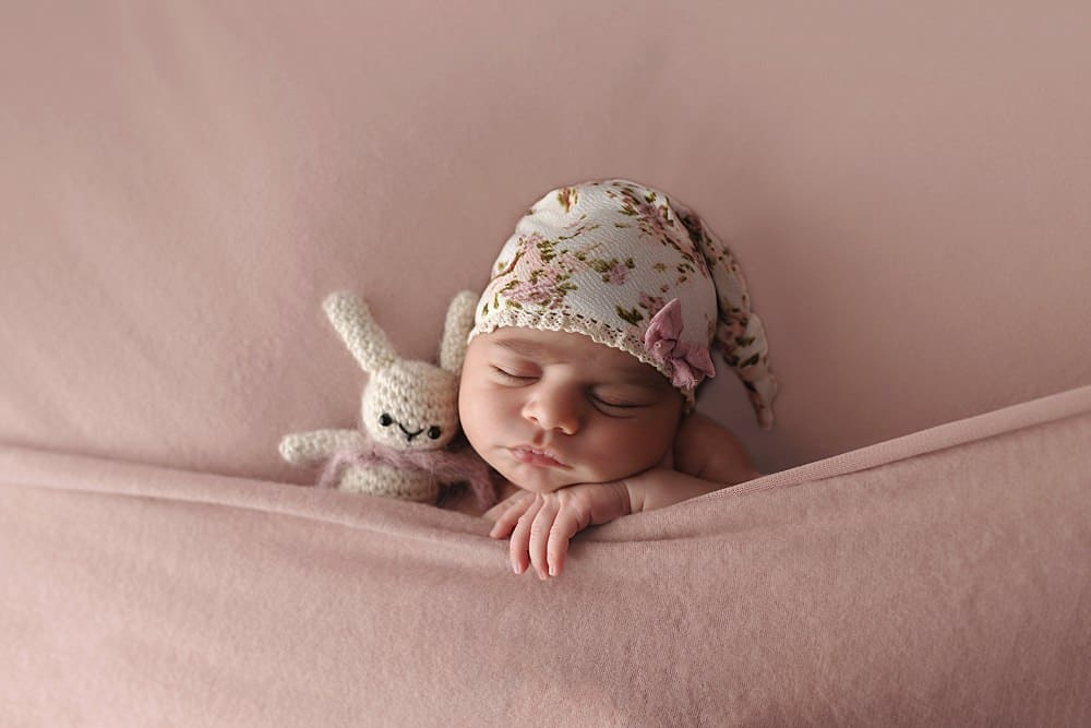 Artistic studio newborn photography by Hartford, CT photographer The Flash Lady Photography
