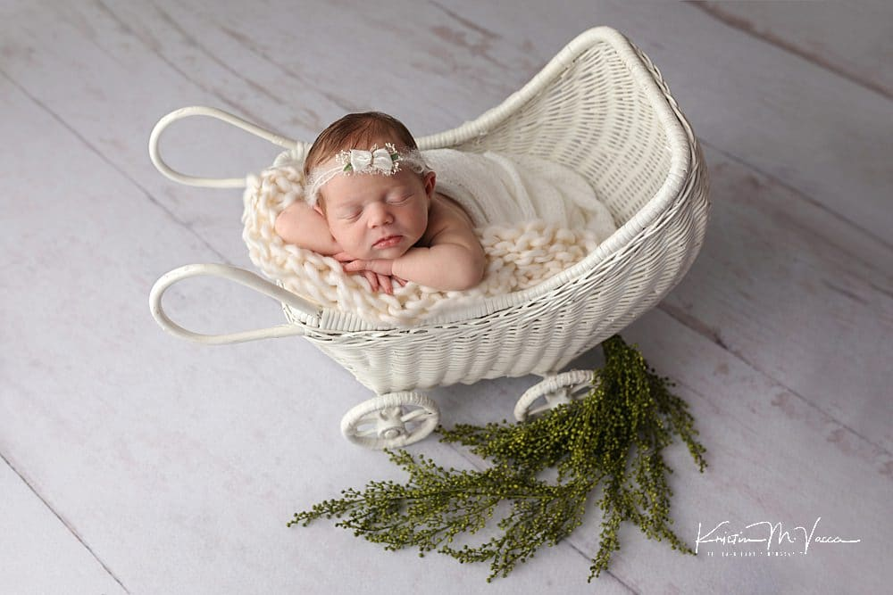Gigi's mauve vintage newborn photos with The Flash Lady Photography