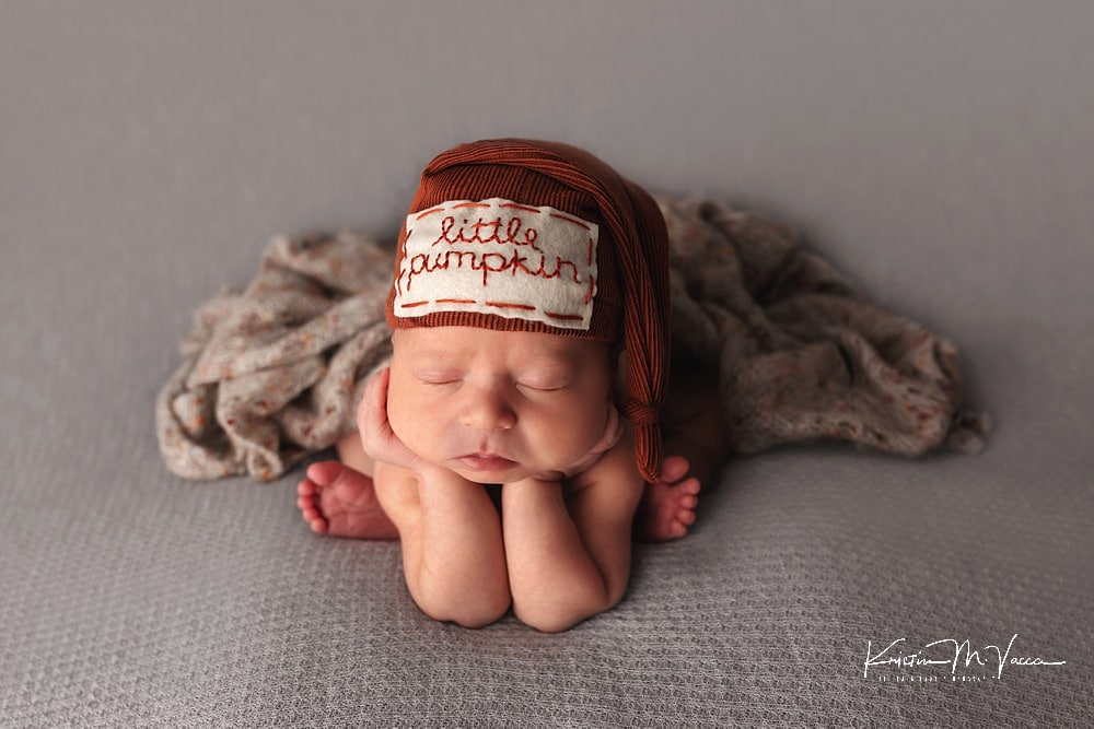 Fall themed newborn photos of Grayson by The Flash Lady Photography