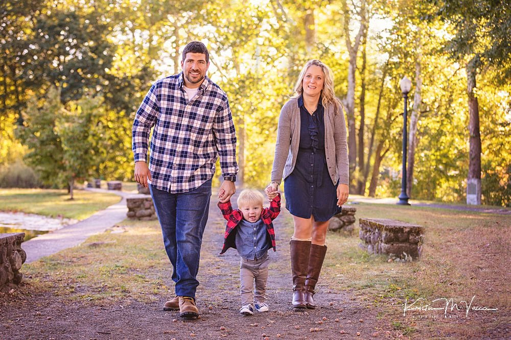 H Family fall milestone photos with The Flash Lady Photography