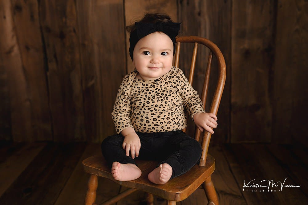 Baby milestone photos with Emerson by The Flash Lady Photography
