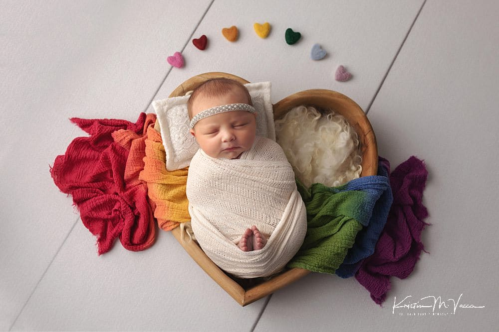 Cheerleader rainbow baby photos by The Flash Lady Photography