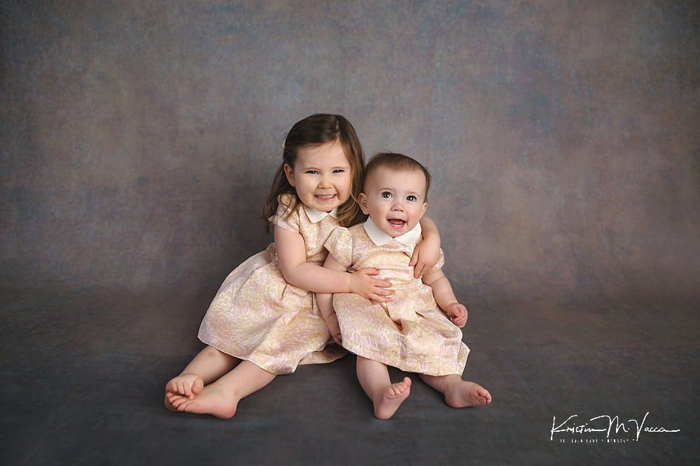Fine art child portraits of 2 sisters by The Flash Lady Photography