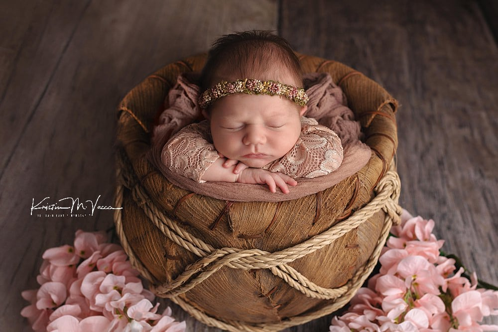 Mauve Newborn Photos by The Flash Lady Photography