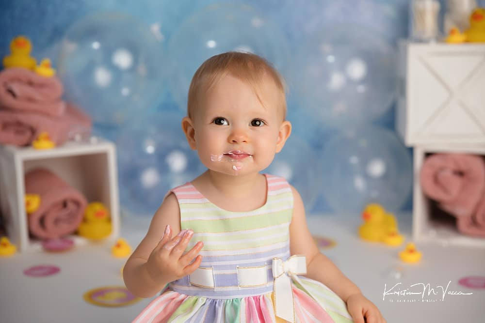 Rubber Duck cake smash by The Flash Lady Photography