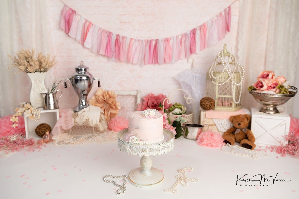 Vintage cake smash by The Flash Lady Photography