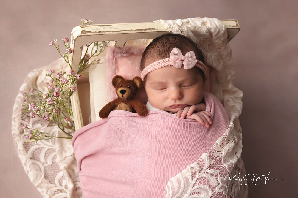 Baby girl newborn photos by The Flash Lady Photography