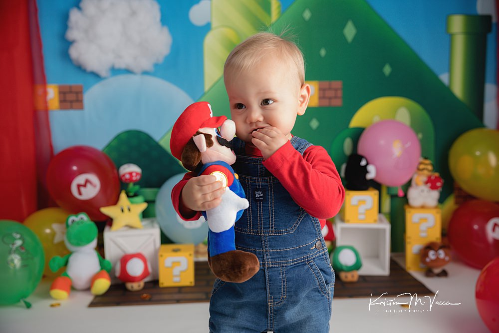 Mario Cake Smash by The Flash Lady Photography