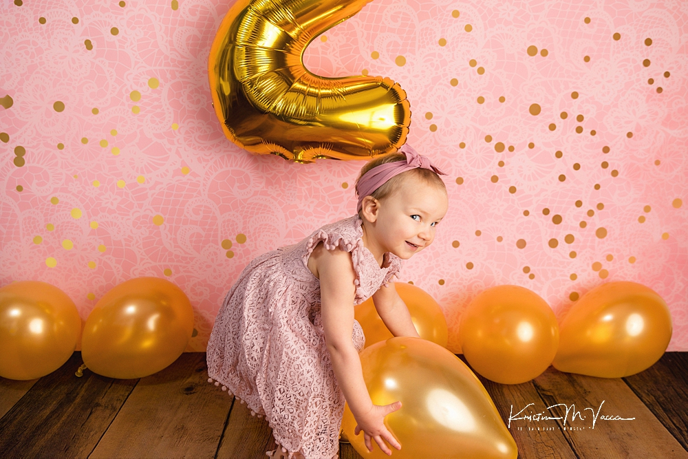 2nd birthday milestone photos by The Flash Lady Photography