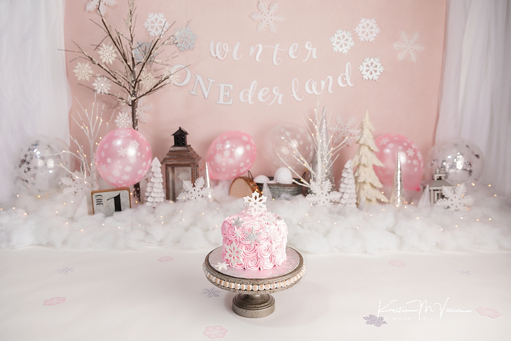 Pink onederland cake smash by The Flash Lady Photography
