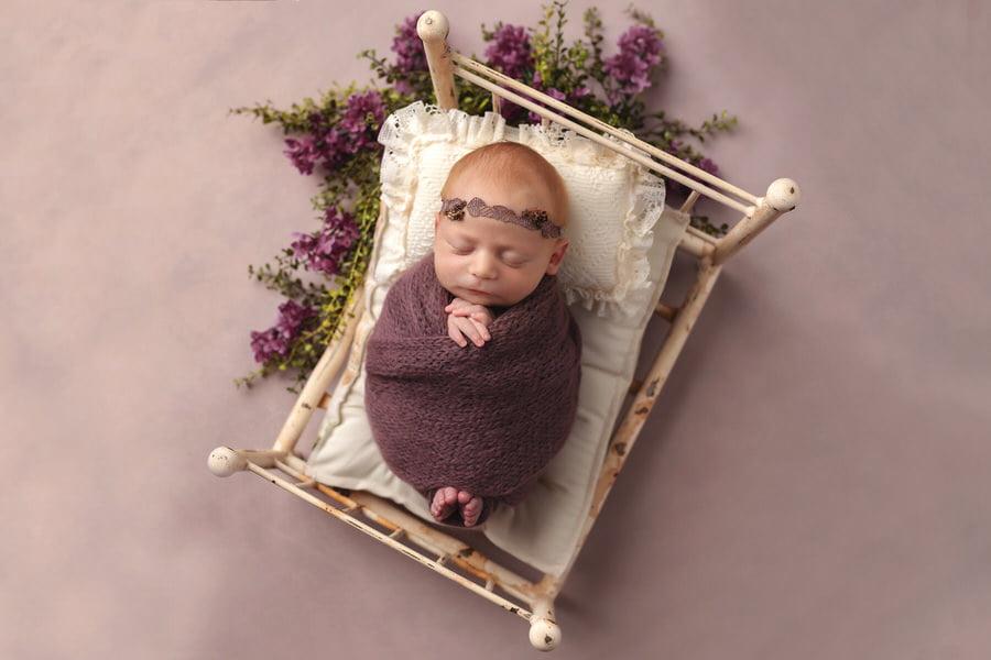 -40Claire-Mauve-Floral-Newborn-Photos